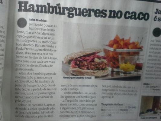Tentacoes Sabado artigo - tasquinha do caco restaurante no Porto